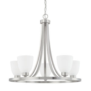 HomePlace Jameson Brushed Nickel 26-Inch Five-Light Chandelier