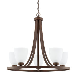 HomePlace Jameson Bronze 26-Inch Five-Light Chandelier