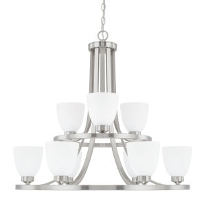 HomePlace Jameson Brushed Nickel 30-Inch Nine-Light Chandelier