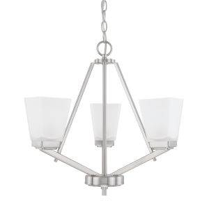 HomePlace Baxley Brushed Nickel 21-Inch Three-Light Chandelier
