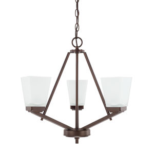 HomePlace Baxley Bronze 21-Inch Three-Light Chandelier