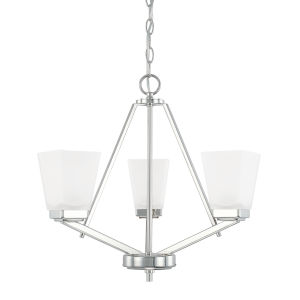 HomePlace Baxley Polished Nickel 21-Inch Three-Light Chandelier