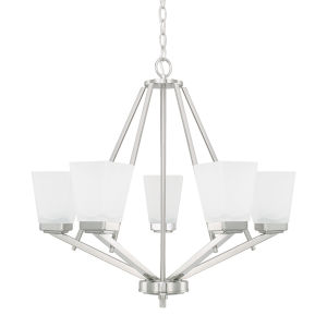HomePlace Baxley Brushed Nickel 26-Inch Five-Light Chandelier