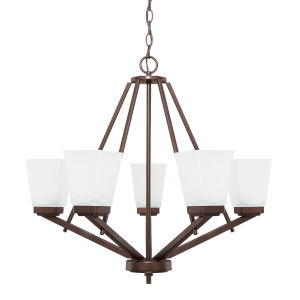 HomePlace Baxley Bronze 26-Inch Five-Light Chandelier
