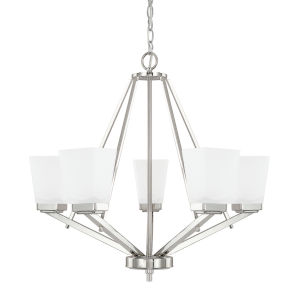 HomePlace Baxley Polished Nickel 26-Inch Five-Light Chandelier
