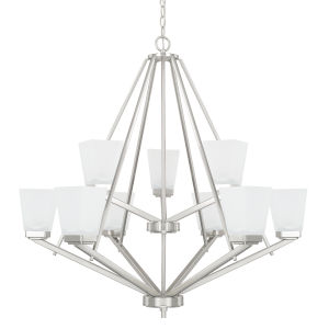 HomePlace Baxley Brushed Nickel 34-Inch Nine-Light Chandelier