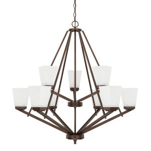 HomePlace Baxley Bronze 34-Inch Nine-Light Chandelier