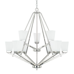HomePlace Baxley Polished Nickel 34-Inch Nine-Light Chandelier