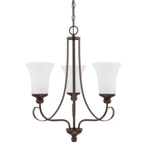 HomePlace Griffin Bronze 21-Inch Three-Light Chandelier