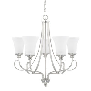 HomePlace Griffin Brushed Nickel 26-Inch Five-Light Chandelier