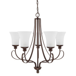 HomePlace Griffin Bronze 26-Inch Five-Light Chandelier
