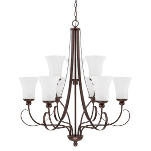 HomePlace Griffin Bronze 31-Inch Nine-Light Chandelier