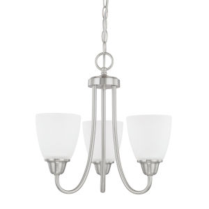 HomePlace Trenton Brushed Nickel 15-Inch Three-Light Chandelier