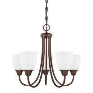HomePlace Trenton Bronze 21-Inch Five-Light Chandelier