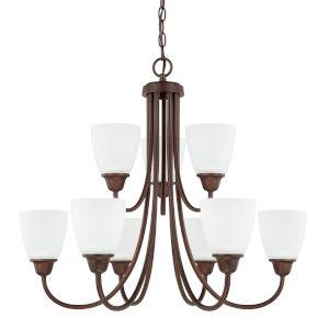 HomePlace Trenton Bronze 28-Inch Nine-Light Chandelier