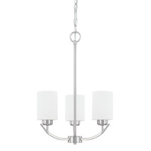 HomePlace Dixon Brushed Nickel 17-Inch Three-Light Chandelier