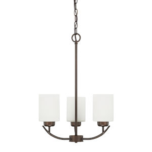 HomePlace Dixon Bronze 17-Inch Three-Light Chandelier