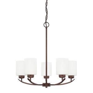 HomePlace Dixon Bronze 23-Inch Five-Light Chandelier