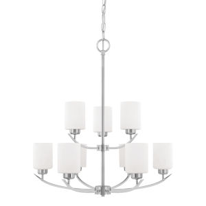 HomePlace Dixon Brushed Nickel 28-Inch Nine-Light Chandelier