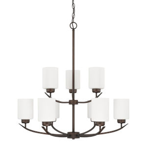 HomePlace Dixon Bronze 28-Inch Nine-Light Chandelier