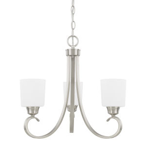 HomePlace Hayden Brushed Nickel 21-Inch Three-Light Chandelier