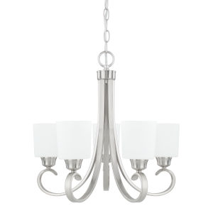 HomePlace Hayden Brushed Nickel 24-Inch Five-Light Chandelier