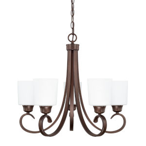 HomePlace Hayden Bronze 24-Inch Five-Light Chandelier