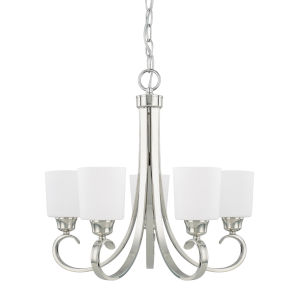 HomePlace Hayden Polished Nickel 24-Inch Five-Light Chandelier