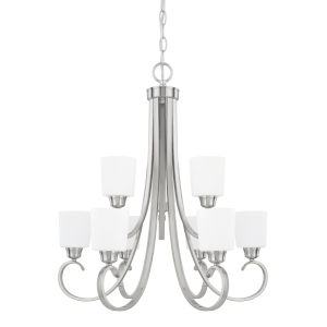 HomePlace Hayden Brushed Nickel 29-Inch Nine-Light Chandelier