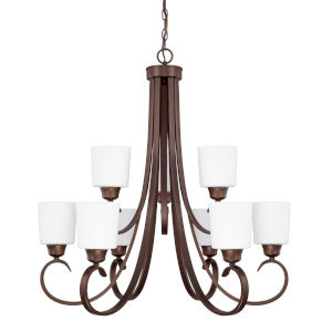 HomePlace Hayden Bronze 29-Inch Nine-Light Chandelier