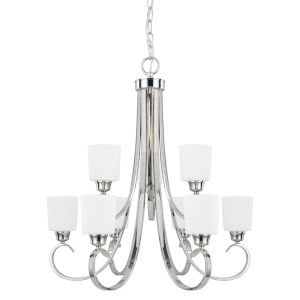 HomePlace Hayden Polished Nickel 29-Inch Nine-Light Chandelier