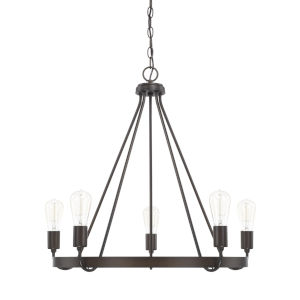 HomePlace Tanner Bronze 27-Inch Five-Light Chandelier