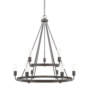 HomePlace Tanner Bronze 31-Inch Nine-Light Chandelier
