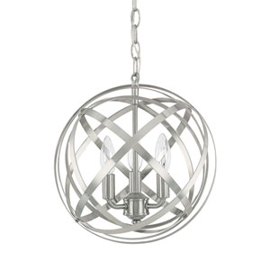 Axis Brushed Nickel Three-Light Pendant