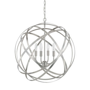 Axis Brushed Nickel Four-Light Pendant