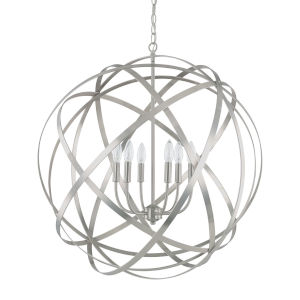 Axis Brushed Nickel Six-Light Pendant