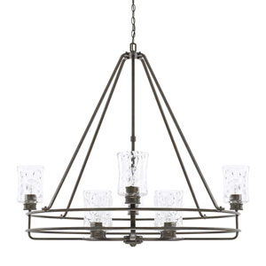 Bristol Black 42-Inch Eight-Light Chandelier