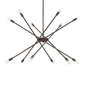 Nordic Grey 12-Light Chandelier