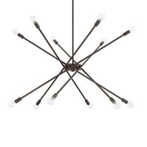 Nordic Grey 12-Light Chandelier