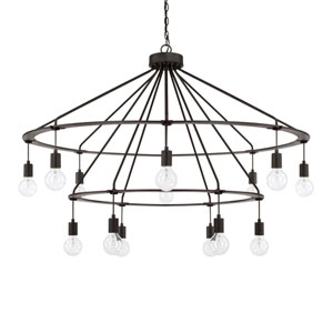 Black Iron 14-Light Chandelier