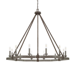 Zac Urban Gray 12-Light Chandelier