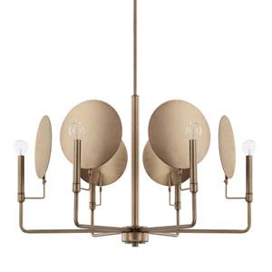 Wells Aged Brass Six-Light Chandelier