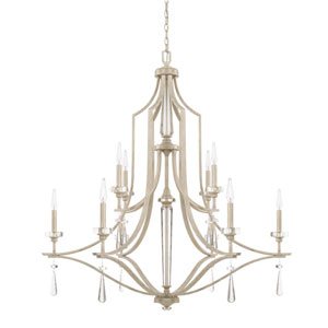 Serena Winter White 10-Light Chandelier