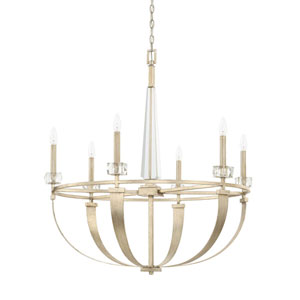 Karina Winter Gold Six-Light Chandelier