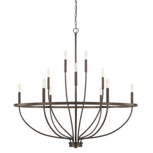 HomePlace Greyson Bronze 40-Inch 12-Light Chandelier