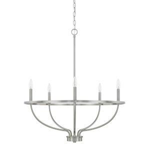 HomePlace Greyson Brushed Nickel 29-Inch Five-Light Chandelier