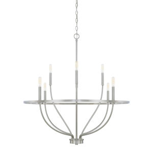 HomePlace Greyson Brushed Nickel 34-Inch Eight-Light Chandelier