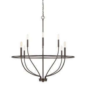HomePlace Greyson Bronze 34-Inch Eight-Light Chandelier