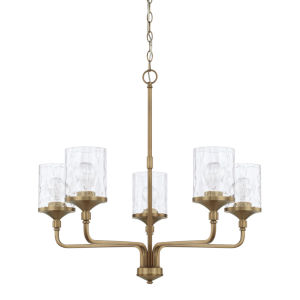 HomePlace Colton Aged Brass 28-Inch Five-Light Chandelier
