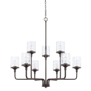 HomePlace Colton Bronze 38-Inch Nine-Light Chandelier
